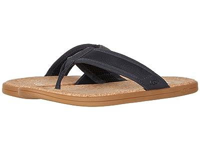 UGG Seaside Flip (Navy Leather) Men