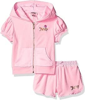 Juicy Couture Conjunto de 2 Pantalones Cortos con Capucha para niñas