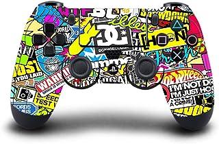 rongweiwang Game Machine Controller Värd Handtag Skyddsmaskin Klistermärke Hud för PS4