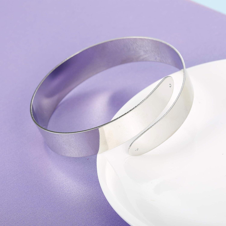 FUNRUN JEWELRY 3-4PCS Minimalist Coil Upper Armband Adjustable Cuff Armlet Arm Cuff Bracelet Filigree Swirl