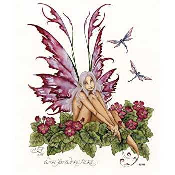60576 Tree-Free Greetings Refrigerator Magnet Singular Wish Fairy by Amy Brown 3.5x3.5 Inches