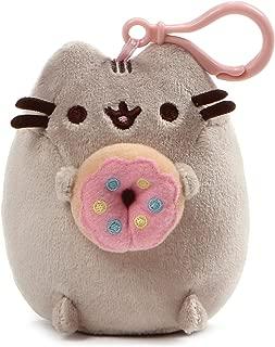 "GUND Pusheen Snackable Donut Cat Plush Stuffed Animal Backpack Clip, Gray, 5"""