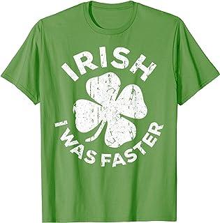 Irish I Was Faster T-Shirt Vintage Saint Patrick Day Gift T-Shirt