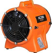 AstroDry Axial Fan Blower 1/3 Hp High Velocity Commercial Air Mover Floor Dryer Industrial Utility Ventilator-Orange, AC300