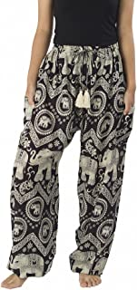 Lannaclothesdesign Women's Elephant Hippie Boho Yoga Harem Pants