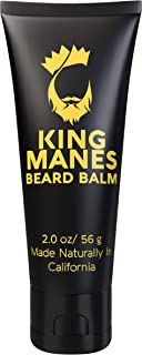 King Manes Beard Balm for Men, 2 Ounce Beard Conditioner with All Natural Ingredients (Condition, Moisturize, Strengthen, Thicken and Soften) Made in the USA. Claim your throne!