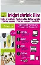 Vaessen Creative Printable Shrink Plastic for Inkjet Printers, Transparent, 5 Sheets, 21 x 30 cm, Directly Print Custom De...
