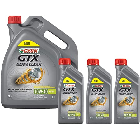 Castrol Motoröl Öl Gtx Ultraclean 10w 40 10w40 A3 B4 5 Liter Auto