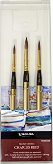 Charles Reid Watercolor Set of 3 Fine Artist Travel Paint Brushes