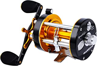Sougayilang Fishing reels Round Baitcasting Reel - Conventional Reel - Reinforced Metal Body and Supreme Star Drag