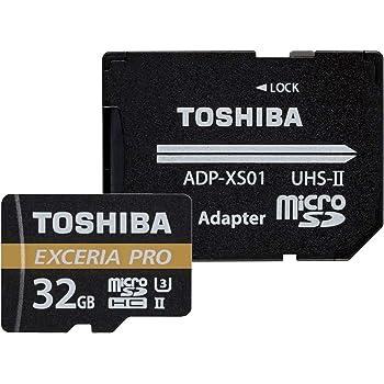 東芝 microSDHCメモリカード 32GB Class10 UHS-II (読み出し最大速度270MB/s) 日本製 国内正規品 Amazon.co.jpモデル THN-M032GU2