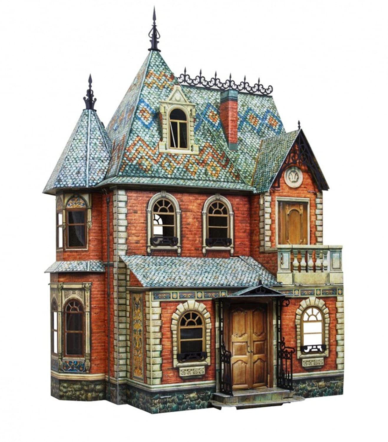 UMBUM 283 - Architectural Playing Toys Doll House Cardboard 3D Puzzle - 17.25