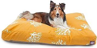 سرير Pet Coral ماجستيك مستطيل للحيوانات الأليفة, Medium, Yellow