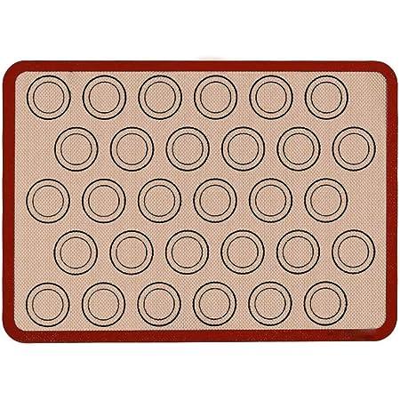 Fitsund Tapis de Cuisson en Silicone,Tapis de Pâte Anti-Adhérent, Réutilisable, Résistant à la Chaleur (40 x 30cm)