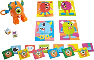 Fisher-Price Monster Roll-A-Match Pre-School Matching Card Game with Monster Theme for 3 Year Olds & Up GWN52