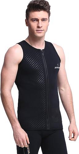 ZUKN Gilet de plongée en néoprène 3mm adapté pour la plongée, Le Surf, Les Hommes et Les Femmes Tailles,Hommes'sTailleL