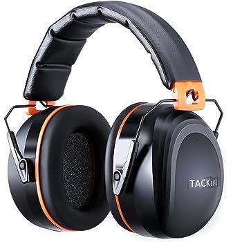 Tacklife Casque Anti-bruit Pliable Enfant Adulte, SNR 34dB/Protection Auditive/Certification CE/Confortable/Idéal pour Bricolage, Construction, Tir, Voyage, HNRE1