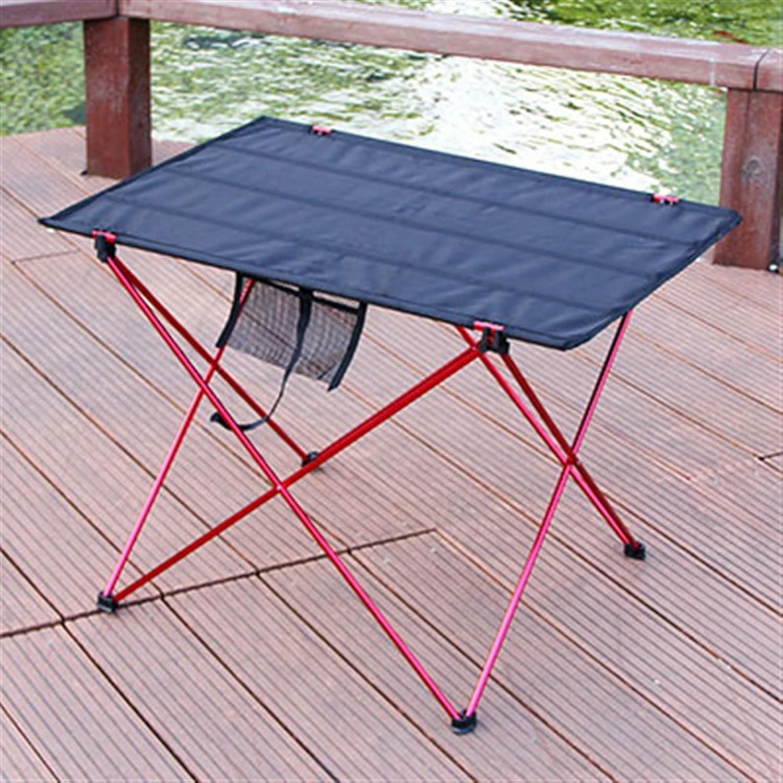 PPCERY Mesa Plegable al Aire Libre Camping aleación de Aluminio aleación de Picnic de la Mesa Impermeable Duradero Mesa de Mesa de Mesa para la Mesa de Playa (Color : SRED)