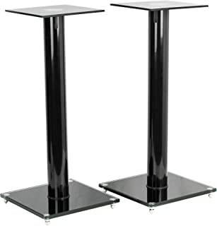 VIVO Premium Universal 23 inch Floor Speaker Stands for Surround Sound and Book Shelf Speakers, 2 Stands Included, STAND-S...