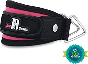 RIMSports Ankle Strap for Cable Machines Best Ankle Cuff for Leg Workout Equipment - Cuff for Leg Exercise and Workout Machine - Ideal Ankle Cable Strap for Men and Women (Pink) Single