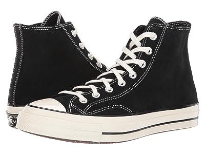 Converse Chuck 70 Suede Hi (Black/Egret/Egret) Shoes