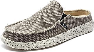 CASMAG Men's Casual Slip On Shoes Clog Canvas Mule Loafers Slipper Slide Sandal Walking Driving Shoes