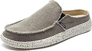 Men's Casual Slip On Shoes Flip Flops Clog Canvas Mule Loafers Slipper Slide Sandal Walking Shoes
