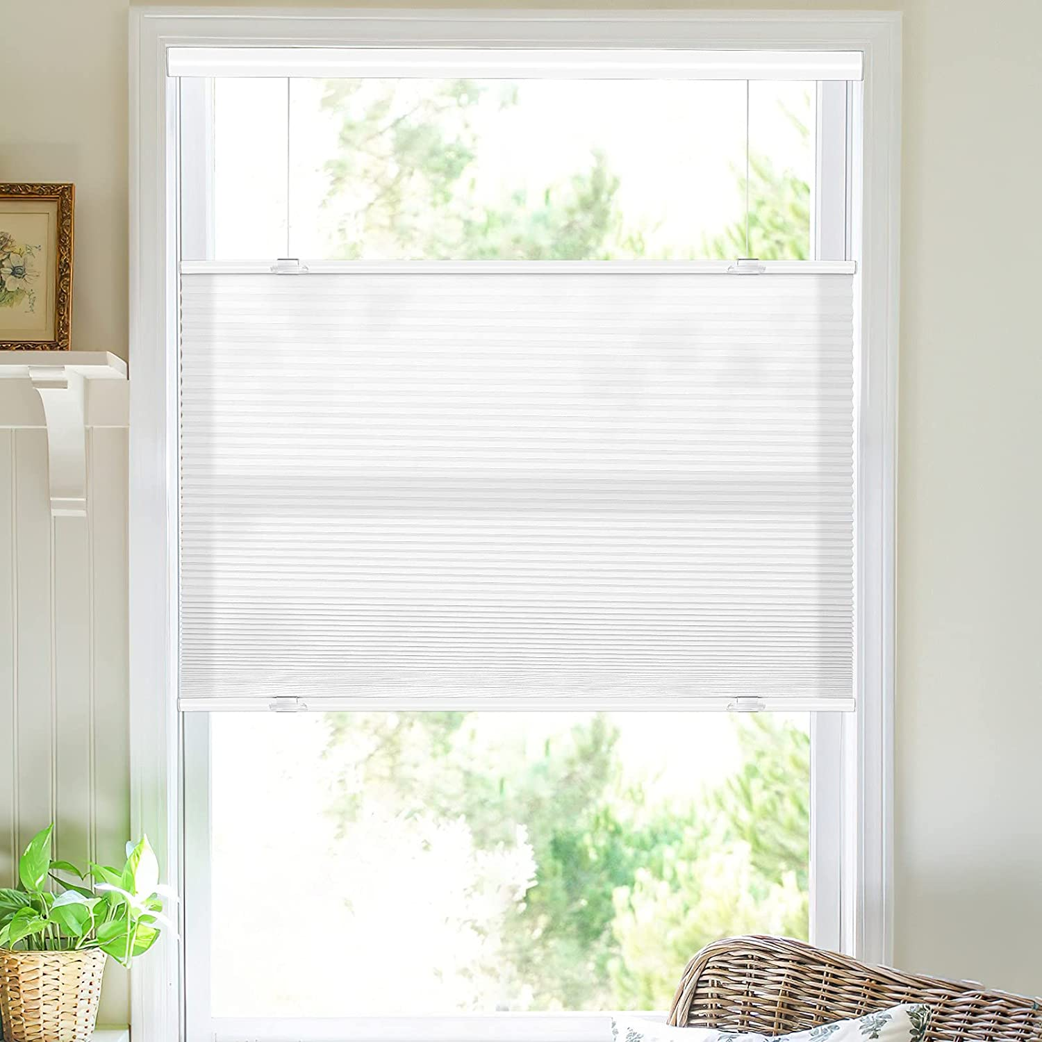 MiLin Top Down Bottom Up Cordless Wi Shades Year-end gift Ultra-Cheap Deals Cellular for Blinds