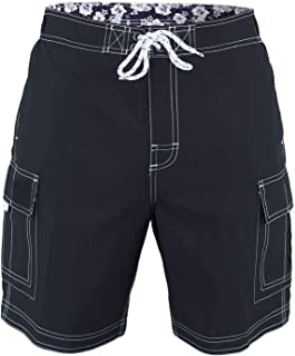 5b860e26 US Apparel Men's Solid Color Cargo Style Microfiber Board Shorts Available  in 3XL, 4XL and