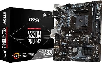 MSI ProSeries AMD Ryzen A320 DDR4 VR Ready USB 3 HDMI Micro-ATX Motherboard (A320M PRO-M2)