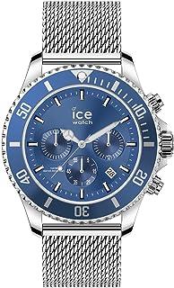 Ice-Watch - Ice Steel Mesh Blue - Montre Bleue pour Homme avec Bracelet en Metal - 017668 (Large)