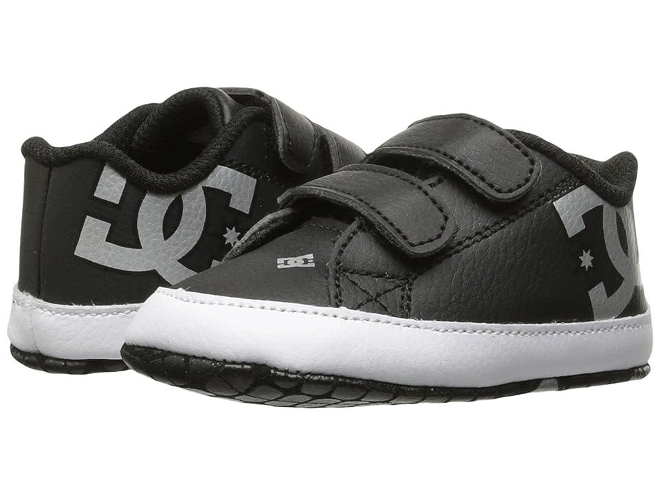 DC Kids Court Graffik (Infant/Toddler) (Black/Silver) Kids Shoes