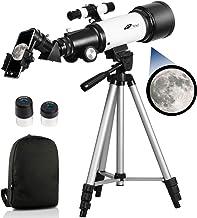 Telescopes for Adults, 70mm Aperture 400mm AZ Mount, Telescope for Kids Beginners, Fully Multi-Coated Optics, Astronomy Re...