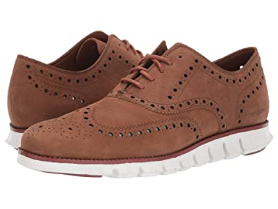 Cole Haan Zerogrand Wing Tip Oxford (CH Dogwood Tumbled Nubuck/Reef Waters/Optic White) Men