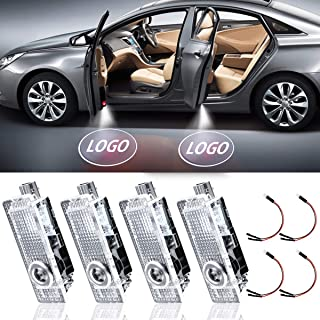 LED Car Door Light Projector Courtesy LED Laser Welcome Logo Lights Lamps Accessories Compatible with A1 A3 A4 A5 A6 Q3 Q7...