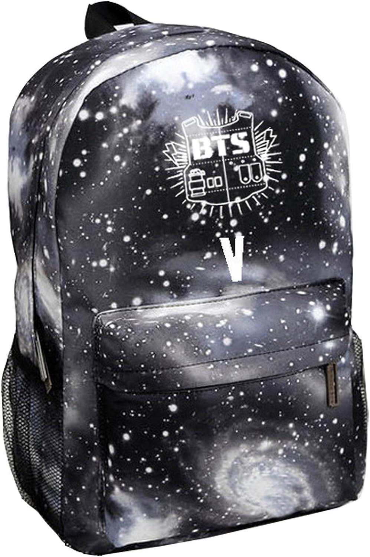 Kpop BTS Backpack Suga V Jin Jimin RapMonster Schoolbag Starry Sky Satchel