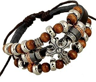 Hot Sale 1P Retro Rope Leather Mens Bracelets Leather Rope Hand Woven Bracelet for Men Rope Braided Bracelet Male Female Bracelet Jewelry