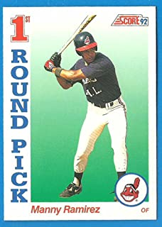 1992 Score MANNY RAMIREZ Rookie Baseball Card #800 - Indians Red Sox A's - G
