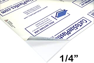 Source One Premium 1/4 Clear Acrylic PlexiGlass Sheet (12