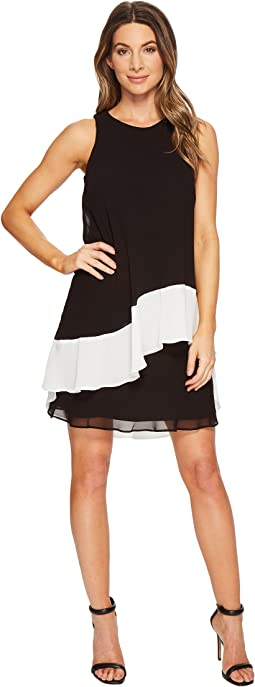 Kaleighna Two-Tone Georgette Dress