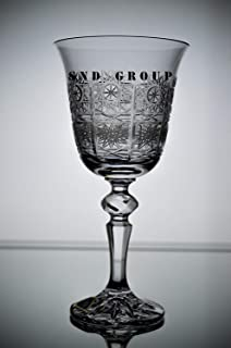 vintage bohemia crystal wine glasses