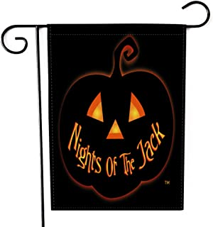 Fiuqaomy Halloween Nights of The Jack Pumpkin Garden Flag Vertical Double Sized, Holiday Burlap Yard Outdoor Decoration 12...