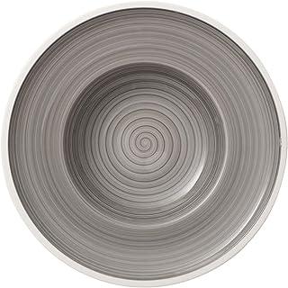Villeroy & Boch Manufacture Gris, handbemaltes vaisselle en haute qualité premium Gris 25cm Assiette creuse, Porcelaine, ...