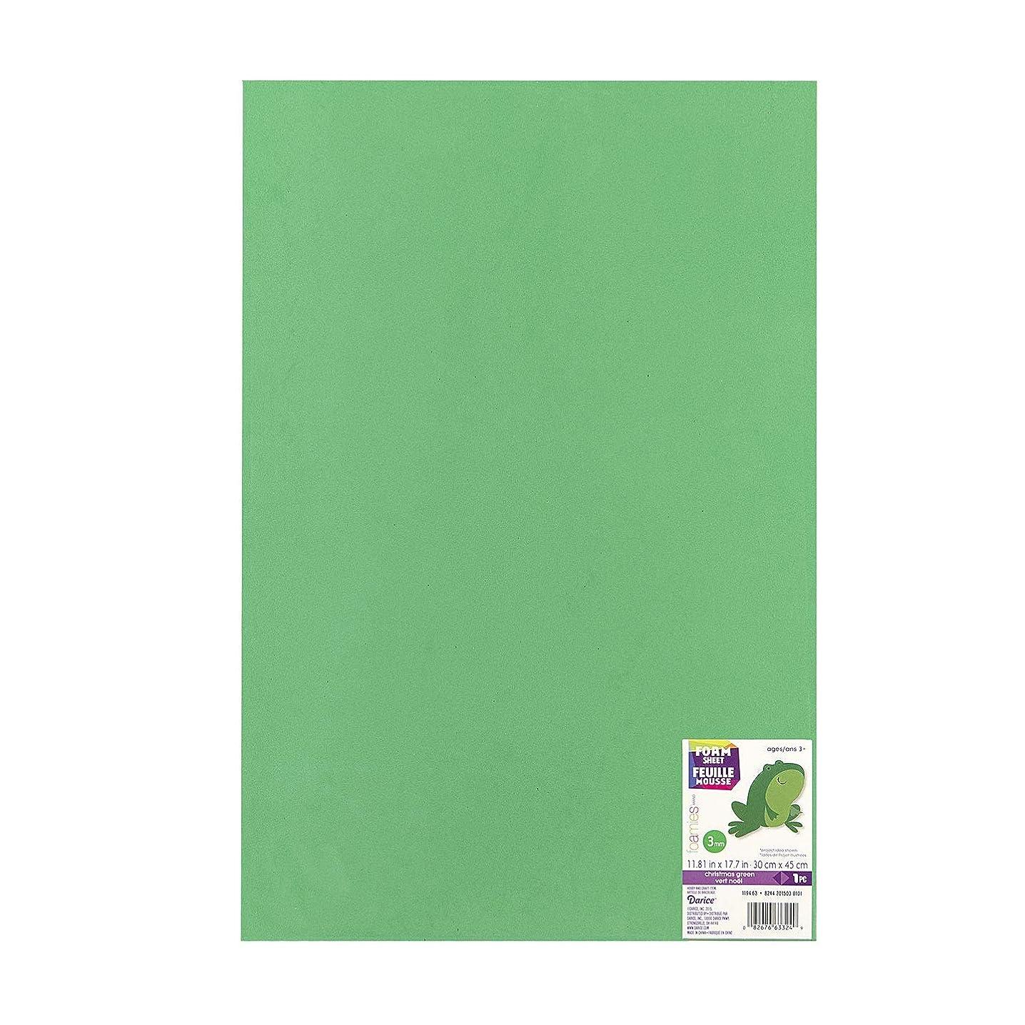 Bulk Buy: Darice Foamies Foam Sheet Christmas Green 3mm thick 12 x 18 inches (10-Pack) 1194-63