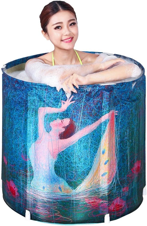 Everyday Home Freies Aufblasbares Plastikfalten Badewanne Erwachsenes Kind-Kind-Bad-Fass ohne Abdeckung Hauptbadezimmer liefert eingebaute Kissen-Abnutzung schmutziges haltbares einfach zu sube