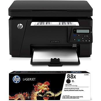 HP Laserjet Pro M126nw Multi-Function Monochrome Laser Printer & HP 88X Toner (Black)