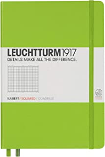 Leuchtturm1917 Medium A5 Squared Hardcover Notebook (Lime) - 249 Numbered Pages