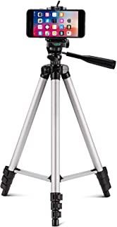 Tripod Stand with Bag by Prosmart | Aluminium Tripod Stand | Adjustable Tripod Stand | Portable and Foldable Tripod Stand | Mobile Clip & Camera Holder Tripod Stand