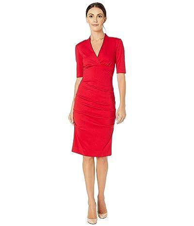 Nicole Miller Joss Ponte Dress (Lipstick Red) Women
