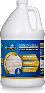 Sheiner's Hardwood Floor Cleaner Super Formula Concentrate for Deep Cleaning of Wood, Laminate, Natural and Engineered Flooring, pH Neutral, Safe for All Hardwood Surfaces, 1 Gallon